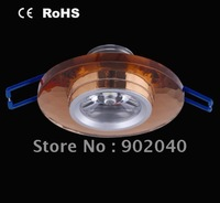 Free shipping high quality 1 Watt  cool white/pure white/warm white, Dark brown Crystal LED ceiling light
