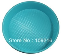 Wholsale!! Free shipping!!! 1pcs Green Good Quality 100% Food Grade Silicone Cake/Pizza Cupcake Pan Big Round Bakeware DIY Mold