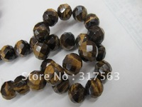 Semi-Precious Gemstone Tiger Eye Beads 12 mm Faceted Round Gemstone Loose Beads 40 cm/string,Free shipping