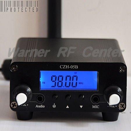 0.1/ 0.5W 76-108MHz broadcast radio station fm transmitter black(China (Mainland))