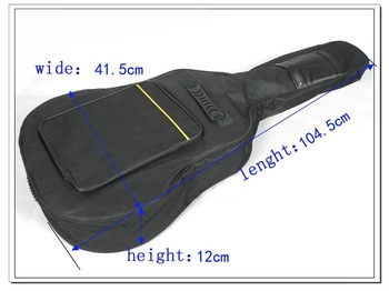 "Free shipping 41"" inch Acoustic Guitar Gig thicken Bag Case with Dual Padded Strap Wholesale+Retail"