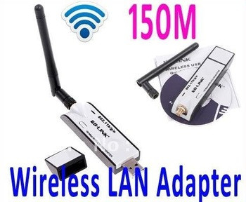 Mini USB Wireless LAN Adapter 150M 802.11N Wifi Adpater Wireless receiver with Detachable Antenna