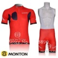 NEW! 2012 Look team red cycling jersey short bib suit/jersey+bib shorts-B184 Free Shipping