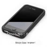 200pcs/lot Silicon case for iphone 4 covers , silicone case for iphone4S 4G 4 free shipping by DHL UPS