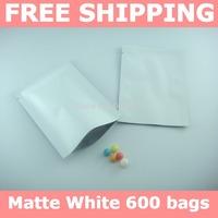 Free shipping,2.8''x4''(7x10cm) Matte White foil bag