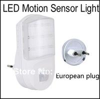 AC Powered Wall European Plug 9 LED Motion Detector Sensor PIR Night Light(Input:AC230V)