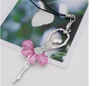 Retailing Min.order is $15 (mix order)  8022-2-20 flash silver drill skirt dance ballet girl mobile phone chain pendant