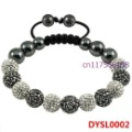 Min Order $10 Free Shipping Fashion Shamballa Bracelet For Women Woven Strand Beads Bracelet DYSL0002