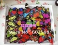 hot sael 100pcs lot Simulation of butterfly fridge magnet, fridge magnet, refrigerator magnets