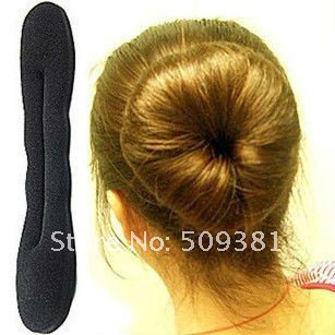 20 pcs/Lot, Free Shipping, Wholesale, 2012 Fashion Hair Accessory, Sponge Bun Clip Maker Former, Hair Tools, Fashion Hair Band(China (Mainland))