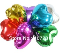 "50pcs/lots wholesales 18"" (45cm) heart shape balloon , foil balloon , helium quality , Gold,silver,red,roseo,blue,purple,green"
