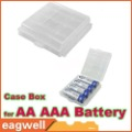 Free shipping! 10X Hard Plastic Case Holder Storage Box for AA AAA Battery