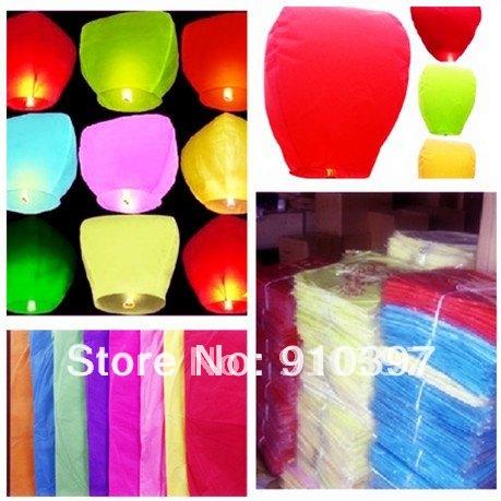 heart shape+ oval shap Sky Lanterns, Wishing Lamp SKY CHINESE LANTERNS BIRTHDAY WEDDING PARTY-no printing(China (Mainland))