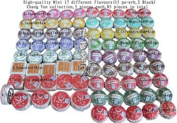 Yunnan Pu er tea Puer tea *Top Grade Mini Ripe/Raw/Pu-erh Tea/Black tea *Collection 85 pieces/17  flavours/ 5 pieces each
