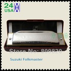 New silver Suzuki 1072 Folk Master Harmonica 10 Hole Blues Key of C do Diatonic A Bb D E F G(China (Mainland))