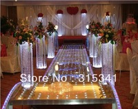 Free shipment/10pcs/lots/ acrylic crystal wedding lead road/ 120cm tall/22cm diameter/item No.OUGE-004