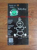 Custom Transparent PVC sticker, car family stickers,Screen printing process