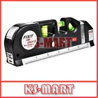 FREE SHIPPING Aligner Horizon Vertical Laser Level Measure Tape 8FT KM2274