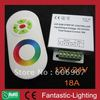 RF controller color and brightness adjustable LED RGB remote controller with touch sensor rings