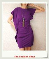 FREE SHIPPING Fashion 2014 New Summer Ladies' Casual Mini Dress Size M OKC2201-1