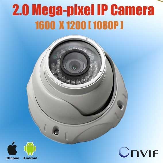 Wholesale professional 2MP CMOS Full-HD vandal-proof IR network dome IP Camera,cctv array ir led camera KE-HDC232(China (Mainland))