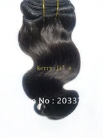 "100% Brazilian human hair weft dark brown body wave,mix size 16""20""22 (3 pcs /lot),#2,free shipping"
