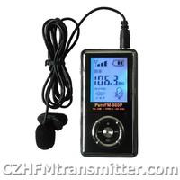 NEW Pure FM-980P mini portable pocket FM transmitter 76-108MHz LCD screen
