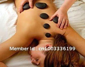 free shipping hot sell 9 pieces pack massage stone set, basalt massage stone sets, hot spa rocks(China (Mainland))