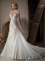 Simple wedding dress 2012 V-neck free shipping