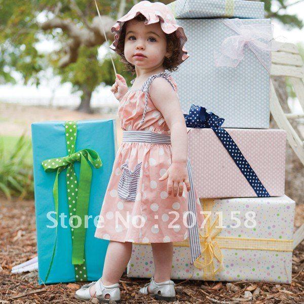Cute Babies Pink Dress Baby Pink Dot Dress Summer