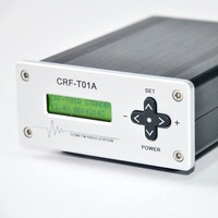 Freeshipping!  CZH  CRF-T01A home radio broadcast station (0~990mW FM Transmitter) 87-108MHZ Silver