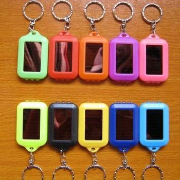 1 PCS Colorful Solar LED Light Keychain / Mini Flashlight Key Ring