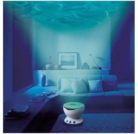FREE SHIPPING!!1 pcs/lot Led Night Light Projector Ocean Daren Waves Projector Projection Lamp With Speaker Novelty Gift(China (Mainland))
