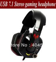 Freeshipping Somic G909 USB 7.1 Headphone PC Game w/ Mic Black