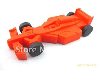 Dropship! F1 Red sports racing car Creative silicon USB flash drive pendrive disk memory stick 1GB 2GB 4GB 8GB 16GB