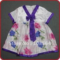 Korean style dress children kids summer clothing gilrls dress FREE SHIPPING 6 pieces in 1 lot  LL1201P