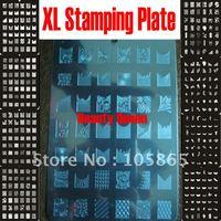 NEW!!! 336 Design XL Medium Size Konad Stamp Stamping Image Plate Print Nail Art Large BIG Template Seal DIY