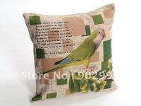 Sofa throw pillow cases cushion with cute bird