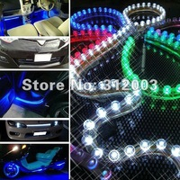 Free shipping 10 pcs/pack 24 leds Flexible Waterproof 24 LED lamp 24cm Car LED strip light