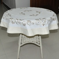 """Size:85x85cm (34"""" round) Soft Fine Embroidery Table cloths"""