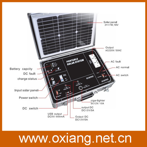 Free shipping+ Promotion 500w Mobile solar power generator with 34w solar panel+ complete set ready to use(China (Mainland))