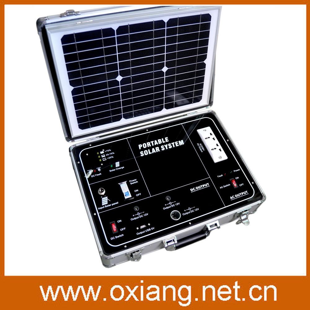 Free shipping+500w AC 110V/220V portable solar generator system Without 34w solar panel(China (Mainland))