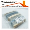 RK2: 1/4W 1% Metal Film Resistor Kit 140 Values (Total: 1400Pcs)