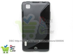 for LG Optimus EX Case,Soft TPU Gel S line Wave Curve Cover Skin Case for LG Optimus EX SU880,Mobile Phone Case,DHL Free(China (Mainland))