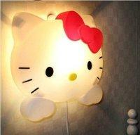 Hello kitty night light lovely warmth mini lamp cartoon wall lamp with kitty Head swith control