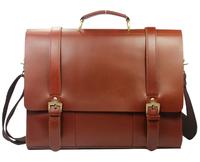 FREE SHIP-Top Class Tote Men's 100% Real Leather Shoulder Bag Messenger Bag Laptop Briefcase M068#
