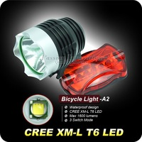 1PC XM-L T6 Bicycle Light HeadLight 1600 Lumen 3 Mode Waterproof Bike Front Light LED HeadLamp 8.4v 6400mAhBattery Pack &Charger