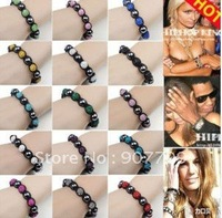 50 PcsTresor Paris Wholesale, free shipping, New Tresor Paris Shamballa Bracelets Micro Pave CZ Disco Ball Bead C501
