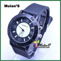 Mulan'S 30pcs/lot New Arrival High Quality 8colors WOMAGE Sports watches Rubber Men's watch on sale ,FREE SHIPPING