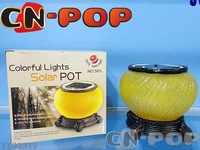 Colorful lights solar pot Gift lamp Retro Night Light light controls solar colorful sun tank  24pcs/lot